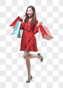 时尚女性消费购物图片