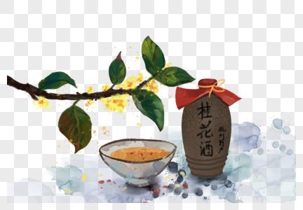 中秋佳节桂花酒图片