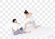 情侣枕头大战图片