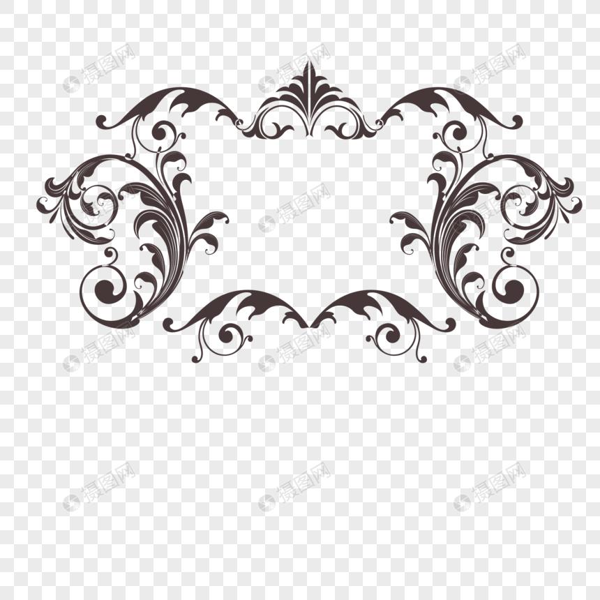 欧式花纹边框设计素材图片