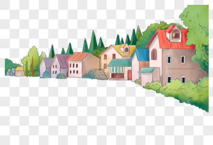 欧洲小镇建筑风景图片