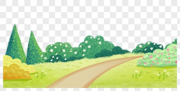 乡间田园风景背景图片