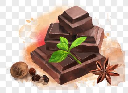 巧克力插画图片