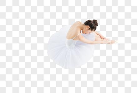 低头坐姿的芭蕾舞女生图片