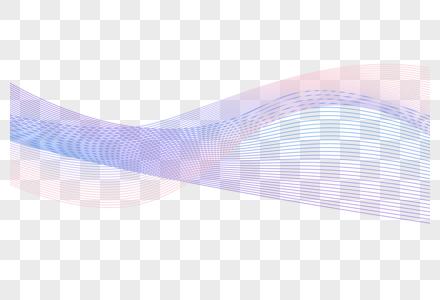 蓝色动感波浪图片