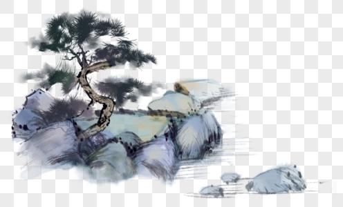 国画山水水墨图片