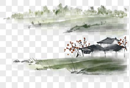 国画山水水墨写意图片