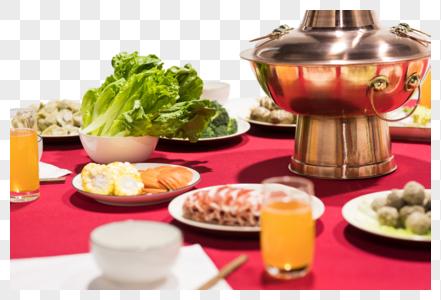 团圆饭年夜饭场景图片