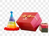 送礼 生日聚会礼物特写图片