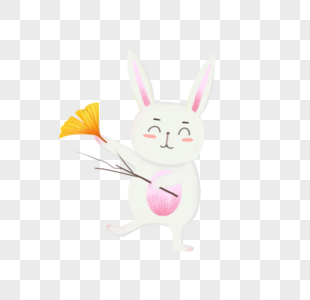 手绘卡通兔子图片