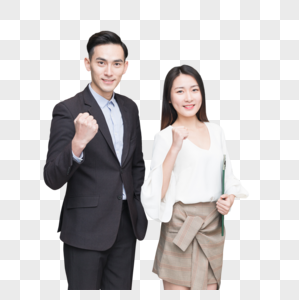 公司办公室商务男女形象展示图片
