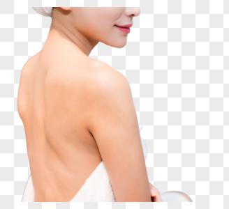 美容美体美女背部背影图片