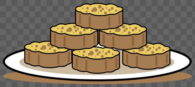 一盘月饼图片