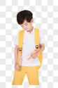 小男孩背书包图片