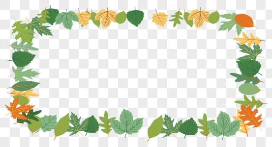 绿叶框图片