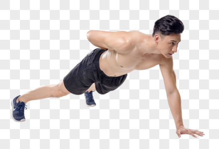 男子俯卧撑动作底图图片