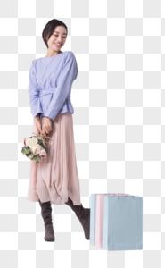 闺蜜开心购物图片