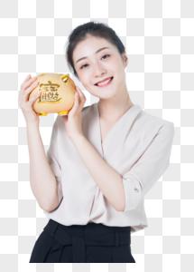 商务女性理财存钱图片