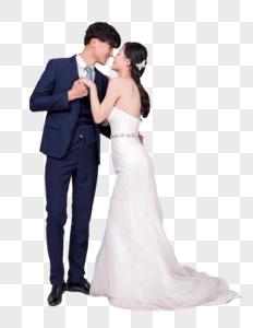 情侣婚纱亲密动作图片