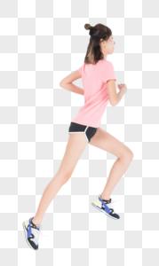 运动女性跳跃图片