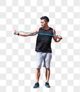 年轻男子健身图片