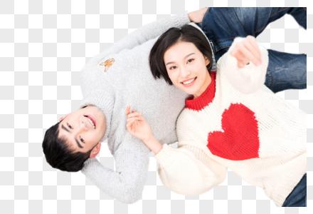 躺在客厅里甜蜜的情侣图片