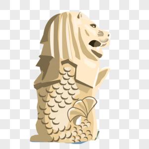 鱼尾狮图片