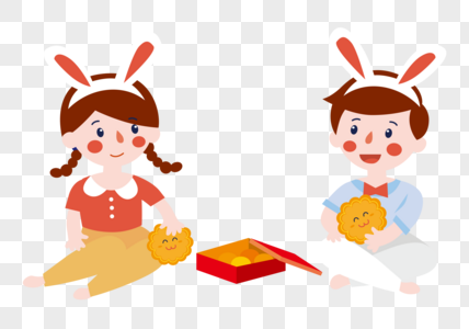 中秋节小孩图片
