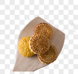 简约小清新中秋月饼图片