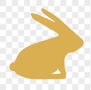 玉兔剪影图片