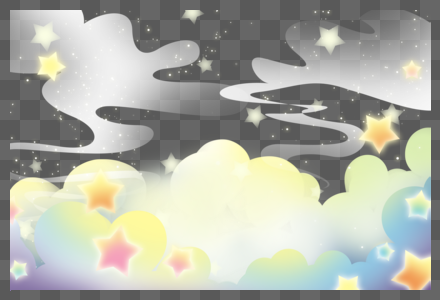 唯美天空装饰图片