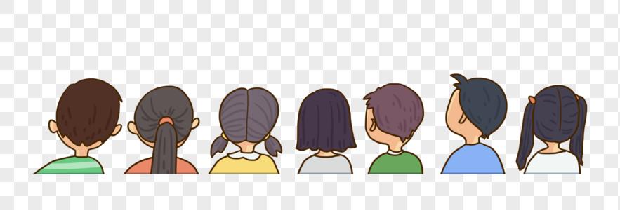 上课看前面的学生图片