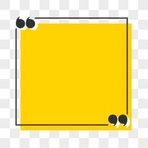 黄色矩形标题框图片