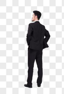 商务人士思考背影图片