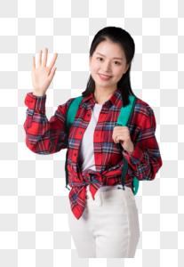 背着书包的学生图片