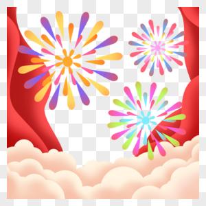新年喜庆背景边框图片