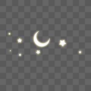 星空月亮图片
