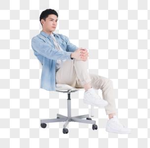 休闲商务男性伸展筋骨图片