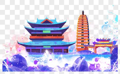 云南观望楼地标图片