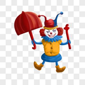 小丑表演图片