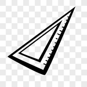 三角尺铅笔画图片