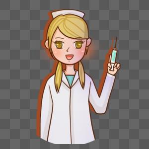 手绘美女护士图片