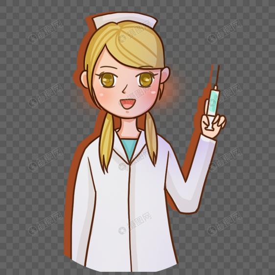 手绘美女护士