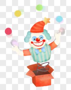 小丑玩具图片