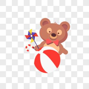 小熊皮球图片