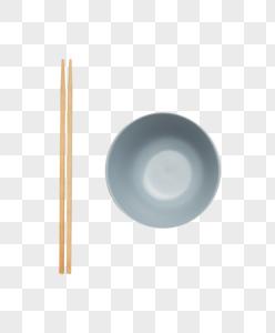 筷子和碗摆拍图图片