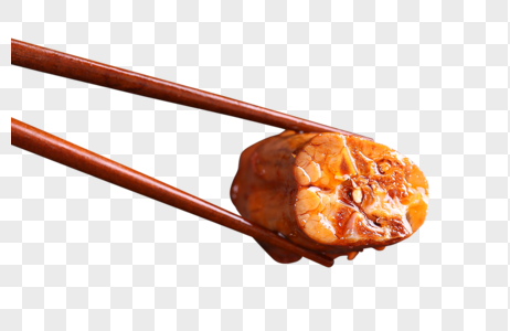 筷子夹鸭脖子图片
