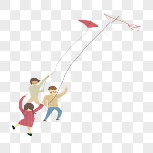 小孩放风筝图片
