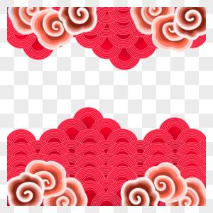 中国风祥云装饰边框图片