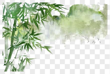 中国风写意水墨山水竹子图片